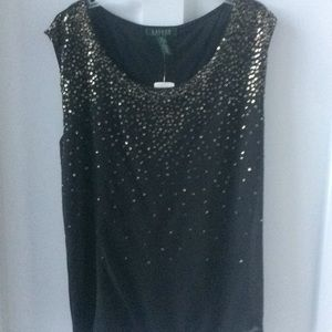 Ralph Lauren black and gold camisole